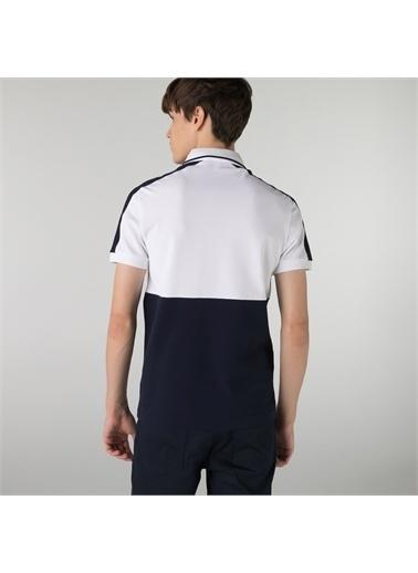 Lacoste Lacoste Erkek Regular Fit Renk Bloklu Beyaz Polo Beyaz
